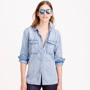 J. Crew Chambray Shirt Sz 8